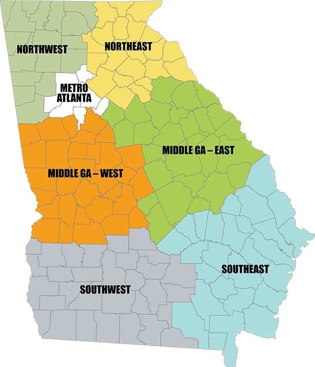Find Interstate Highway Construction Jobs In Georgia - Ga highway map