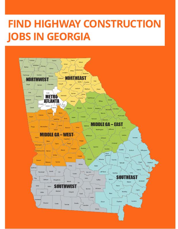Georgia Road Construction Map Georgia Road Jobs   Find Highway Construction Jobs in GA